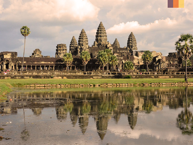 Angkor Wat on a cycling holiday in Cambodia