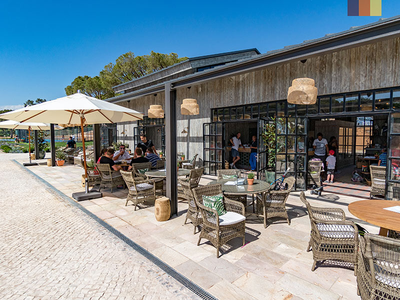 A cafe when you can relax on a cyling holiday to Algarve Portugal