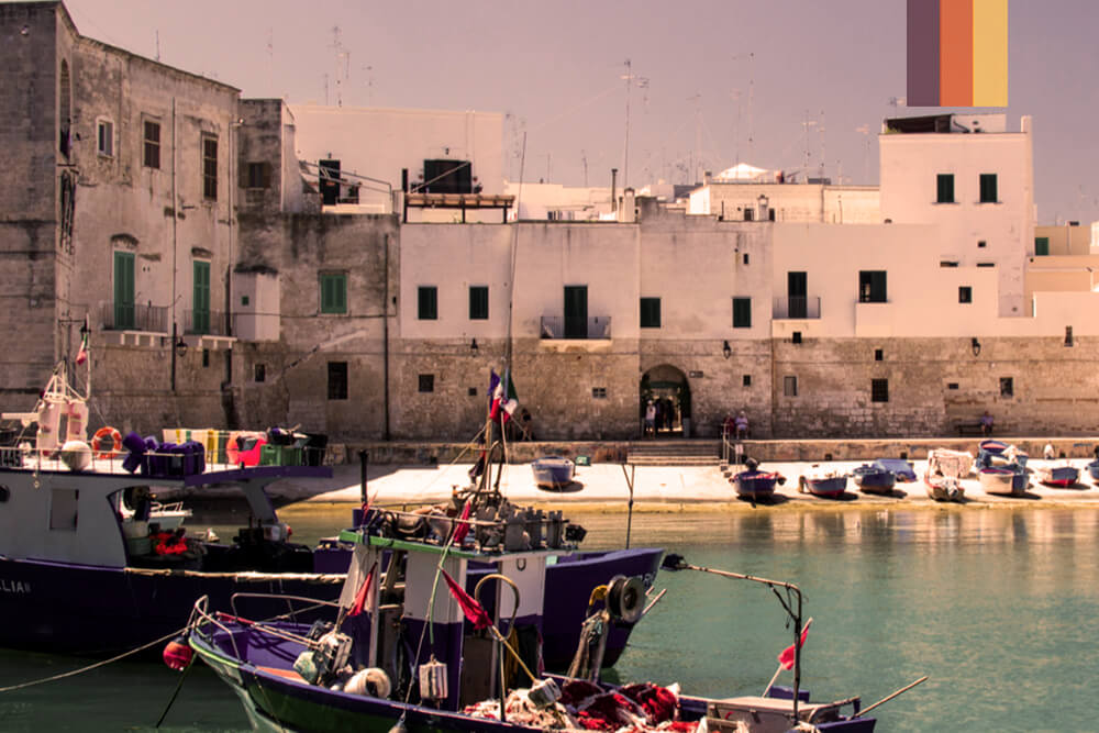 The harbour at Ostuni in Puglia Italy