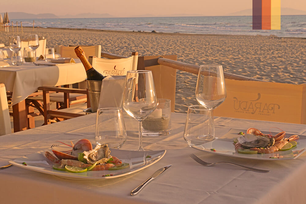 A restaurant on the beach of a Paradu eco Resort cycling holiday
