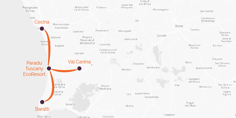 Cycling holiday Cecina to Val Canina route